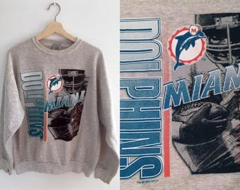 1993 Miami Dolphins Sweatshirt // Vintage Dolphins Pullover