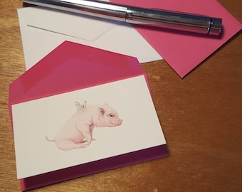 Flying Pig Enclosure Card