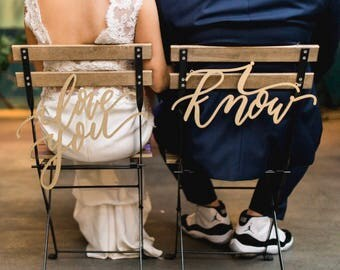 I love you I know Star Wars Laser Cut Chair Backs