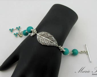 Natural Dark blue Green Chinese Turquoise Bracelet