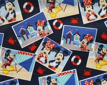 Mickey & Minnie Boardwalk Cotton Fabric Sold by the yard