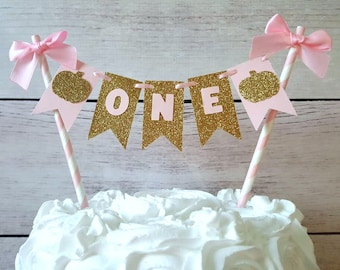 Pink and Gold Little Pumpkin Cake Topper, Pink and Gold Little Pumpkin Birthday, Little Pumpkin First Birthday, Little Pumpkin Bunting