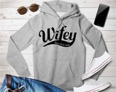 Mr and Mrs wifey, hubby, gift for her, Just Married Personalized Hoodies, date Hoodies, Bride and Groom, Wedding Gift,Married since top,