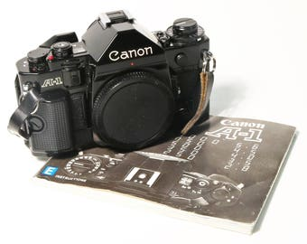 Canon A-1 35mm SLR Film Camera Body Only, Made in Japan 1970s 1980s