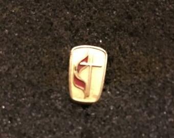 Vintage Religious Gold Lapel Pin