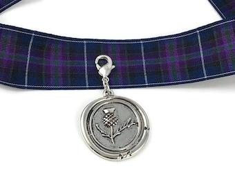 Outlander Inspired, Outlander Themed Zipper Pull / Purse Medallion.