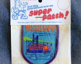 Vintage Mississippi Souvenir Embroidered Patch ON SALE