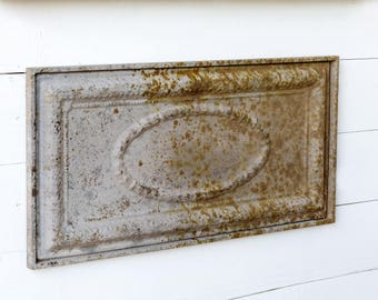 Charmant Vintage Inspired Beautiful Embossed Metal Rusty Patinau0027d Plaque Farmhouse Wall  Decor