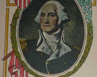 ON SALE till 6/30 Portrait of George Washington Antique Postcard