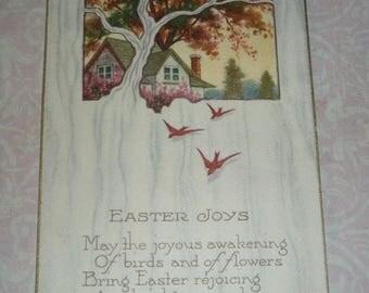 Clearance Sale Easter Joys Vintage Art Deco Postcard