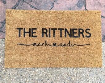 Personalized Doormat • Wedding Shower Closing Housewarming Custom Gift