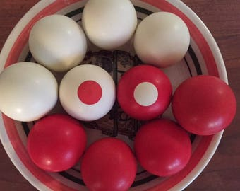 Set of Ten Billiard/Snooker Balls