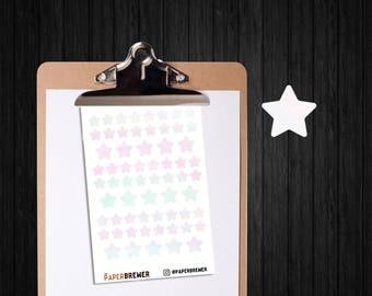 Pastel Star Planner Stickers