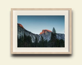 Yosemite Valley, Half Dome Sunset // Yosemite National Park