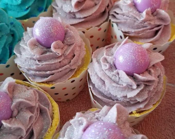 Bubble Bath Bomb Cupcakes