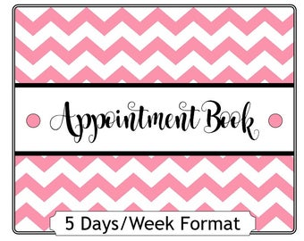 5 Day per Week Yearly Appointment Book