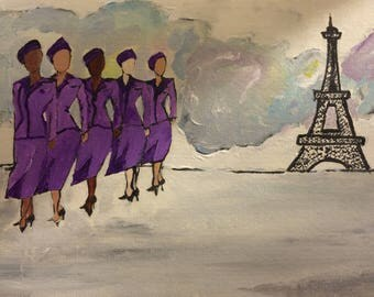 Stewardesses in Paris
