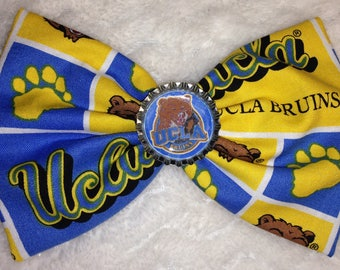 NCAA UCLA Bruins College Football Sports Fabric Hair Bow Clip