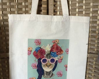 tote bag with cat