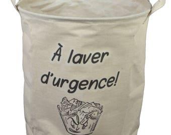 "Bag in linen ""washing emergency!"""