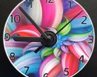 Colourful Flower CD Wall Clock