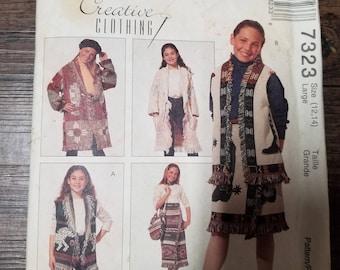 McCall's Pattern Child Size 12-14  #7323