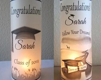 12 Personalized Graduation Party Centerpiece Table Decoration luminaries