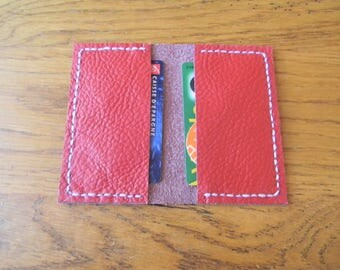 Leather wallet for cards and Red CB