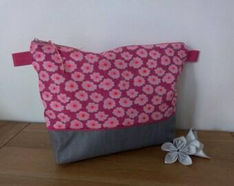 Bright pink Petit Pan printed cotton waterproof Toiletry Kit