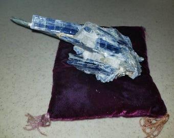 Large Beautiful Raw Blue Kyanite Crystal on Matrix On SALE