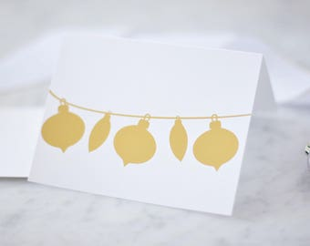 Christmas Ornament Card Christmas Card Holiday Card Merry Christmas Card Set Christmas Christmas Gift Happy Holiday Greeting Card