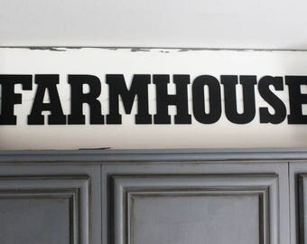 Farmhouse kitchen sign, Farmhouse cabinet decor, Fixer Upper decor, Modern farmhouse decor, Modern farmhouse sign, Chippy paint farm sign