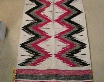 "Southwest Native American Indian Design Loomed Rug 27"" x 56"""