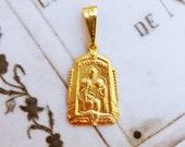 Medal - Saints Ann & Mary 18K Gold Vermeil Medal - 15x21mm