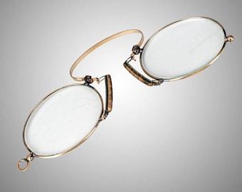 Steam punk antique pince nez eyeglasses spectacles