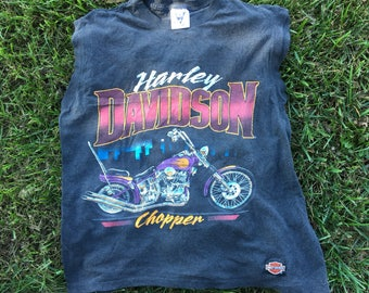 VTG 1988 Harley Davidson Sleeveless Shirt - Large Mens - 80s - SSI Tag - Chopper - Vintage Tee - Vintage Clothing - Tank Top -