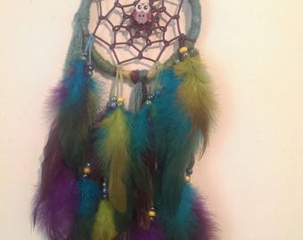 "Dream catcher Fuchsia ""OWL on branch"""