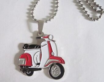 MADE IN ENGLAND New Retro vintage scooter necklace mod vespa lambretta scooter boy quadrophenia rockabilly pin up london brighton 60's