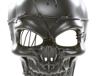 Steampunk Skull Style Mask with Barbwire Design