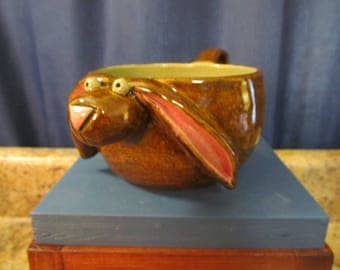 Bunny Soup Bowl with Handle