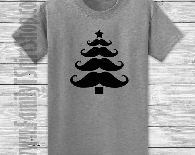 Mustache Christmas Tree T-shirt