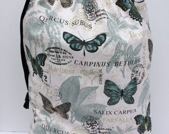 Butterfly Print Laundry Bag, Back to School, Laundromat Bag, Hamper, Laundry Tote, Canvas Laundry Bag, Dirty Laundry Bag, Student Gift