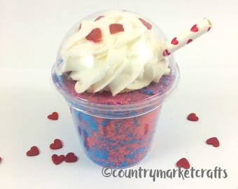 Cherry Twist Bubble Bomb Shake Bubble Bar and Bath Bomb Vegan Friendly Bath Cocktail