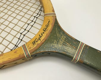 Wright & Ditson vintage tennis racquet