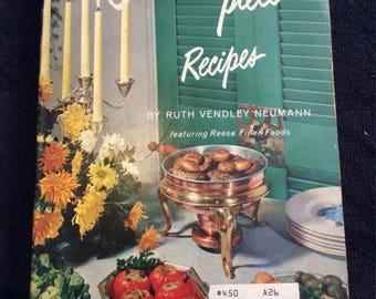 1962 Conversation Piece Recipes Cookbook