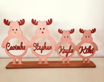 Reindeer Family Standing Ornament