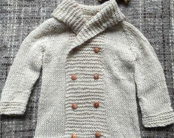 Alpaca Coat, Knitted Coat, Baby Coat, sweater, baby sweater