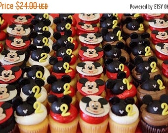 Opening Sale Mickey Mouse Fondant Cupcake Topper