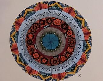 Flowers Mandala Print