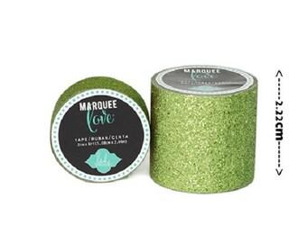 Masking tape / Washi tape fancy - bright green cirton